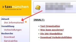 Screenshot Fahrerportal IAA